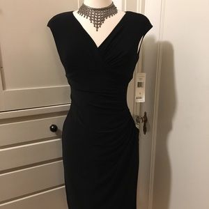 Size 2 Ralph Lauren Black Dress